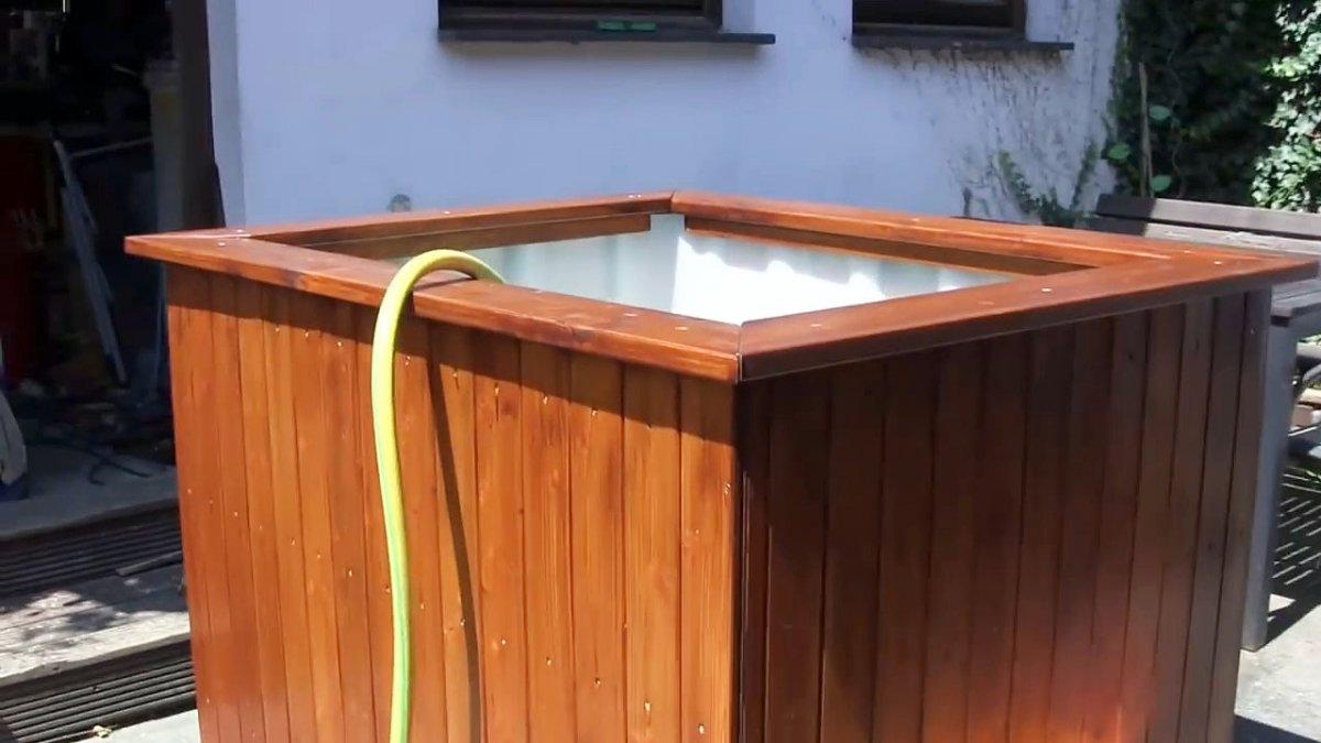 Как сделать бассейн из еврокуба