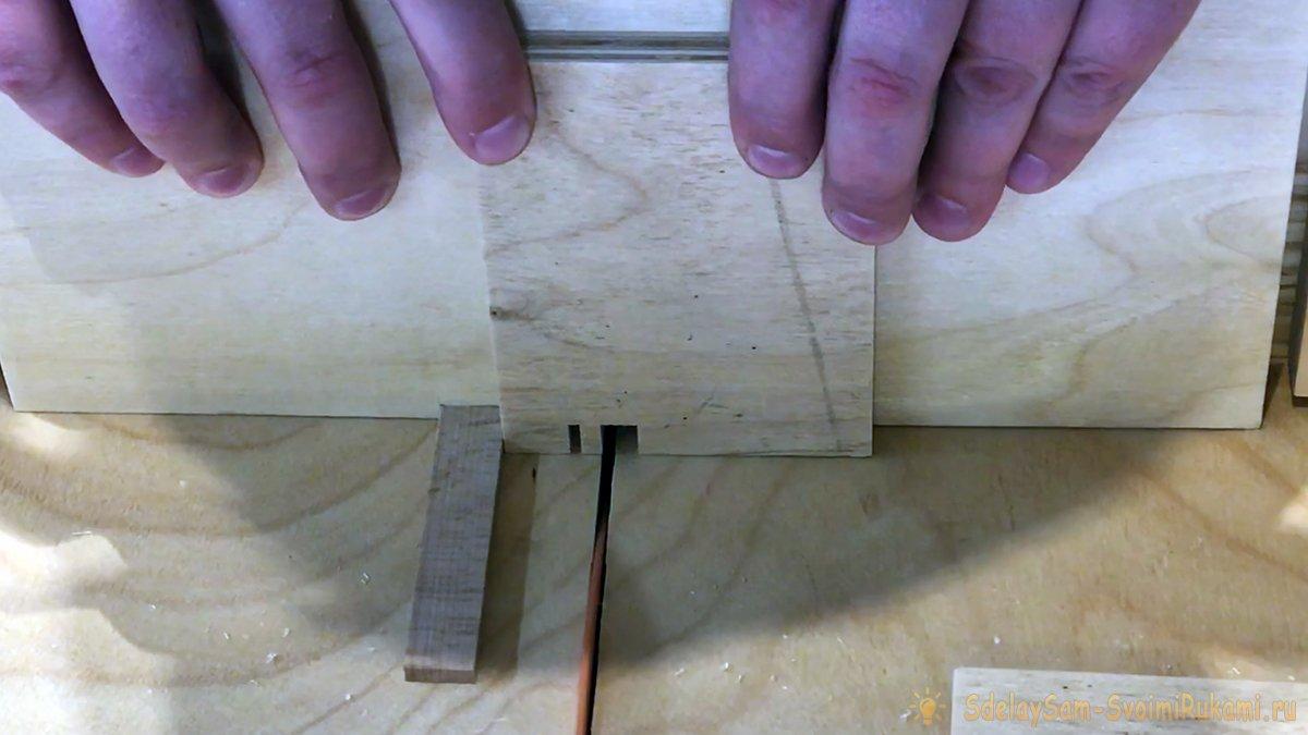 Торцовочная каретка - шипорезка для ящичного соединения