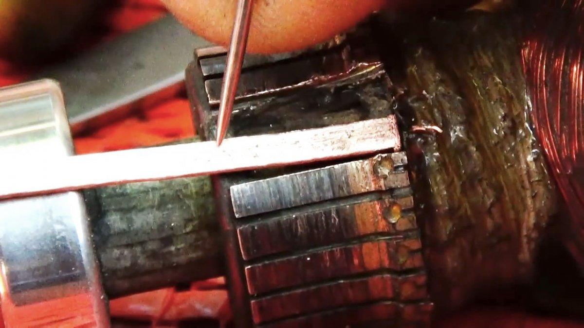 Восстановление коллекторных пластин якоря электродвигателя своими руками