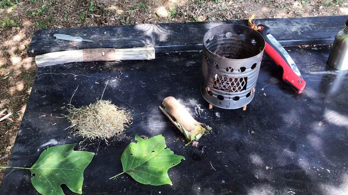 Как разжечь огонь с помощью бутылки