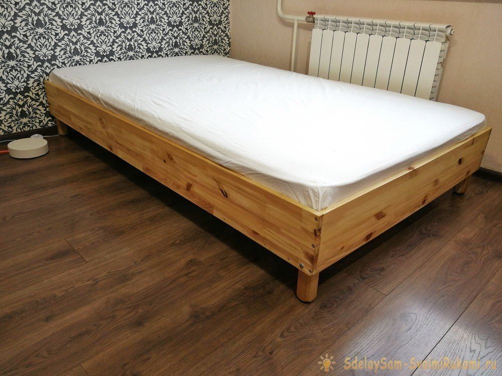 Простая кровать своими руками