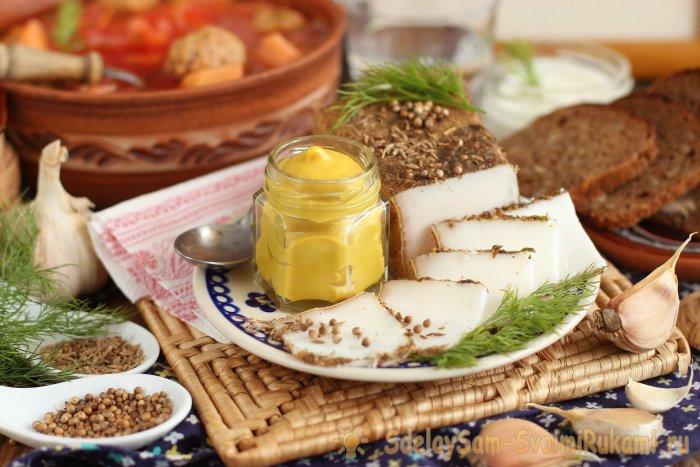 Сало соленое По-белорусски