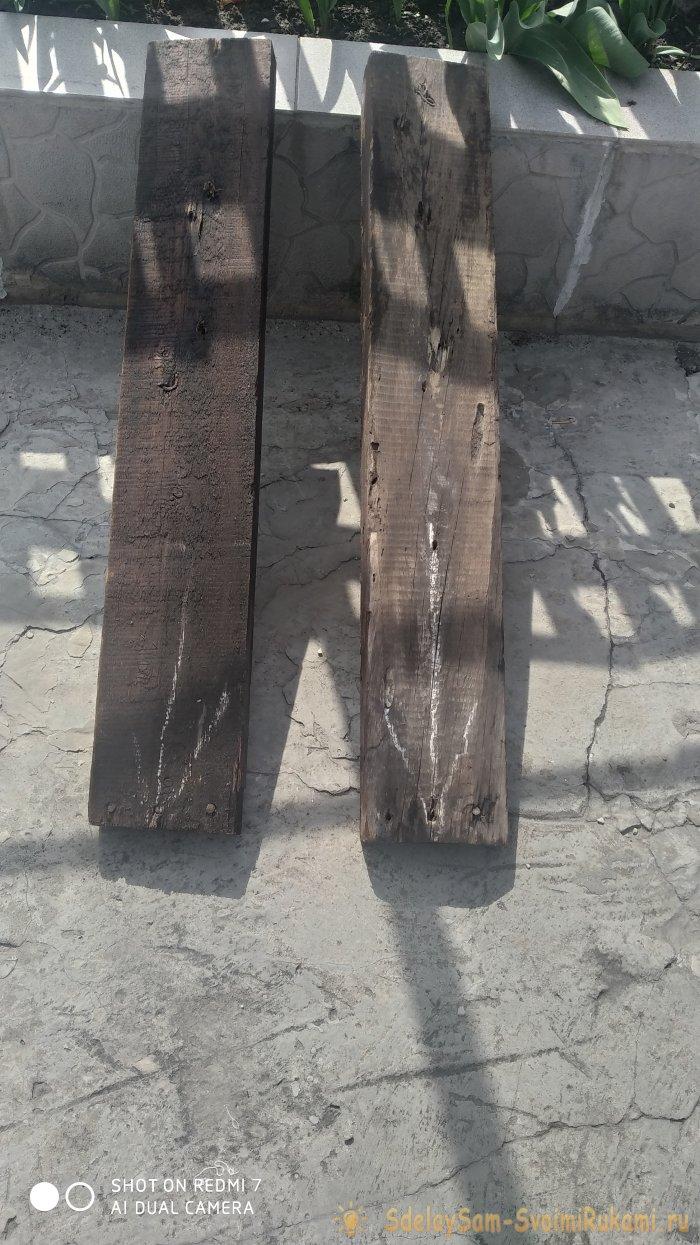 Как сделать деревянно-пластиковую лавку почти без затрат
