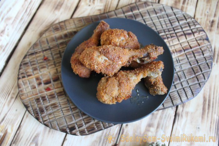Куриные ножки в хрустящей панировке Как в KFC