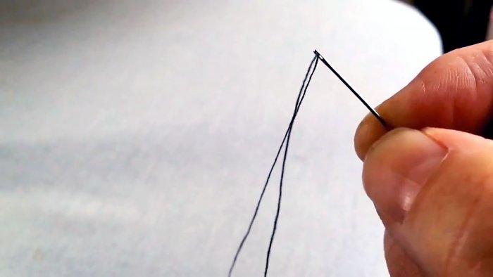 Как продеть нитку в иголку без смачивания приспособлений и лишней волокиты