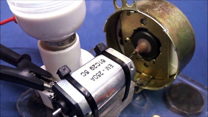 Механический преобразователь из двигателя от микроволновой печи