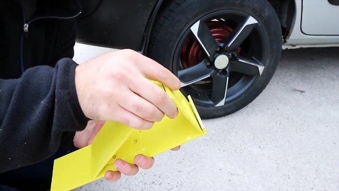 Складывающийся противооткатный упор для автомобиля своими руками
