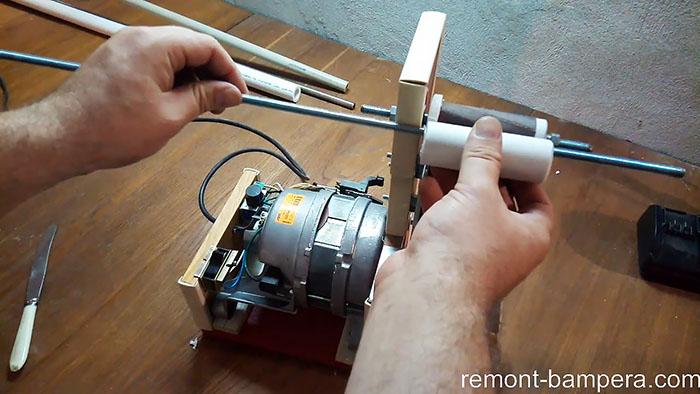 Самый простой гриндер без сварки и токарки из двигателя стиралки