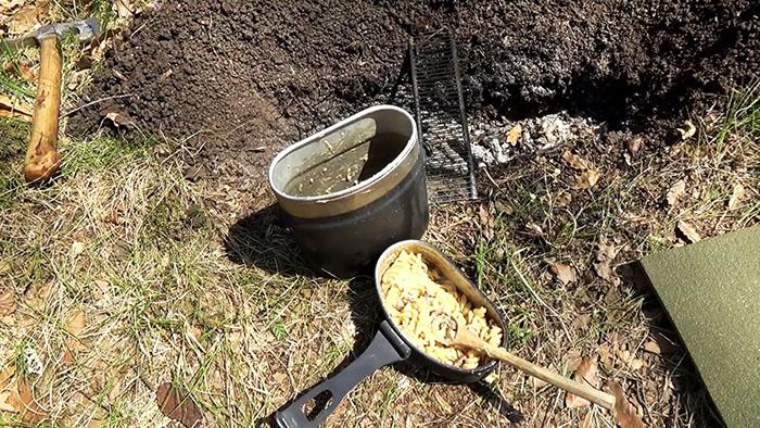 Пикник на природе – вкусные макароны на костре!