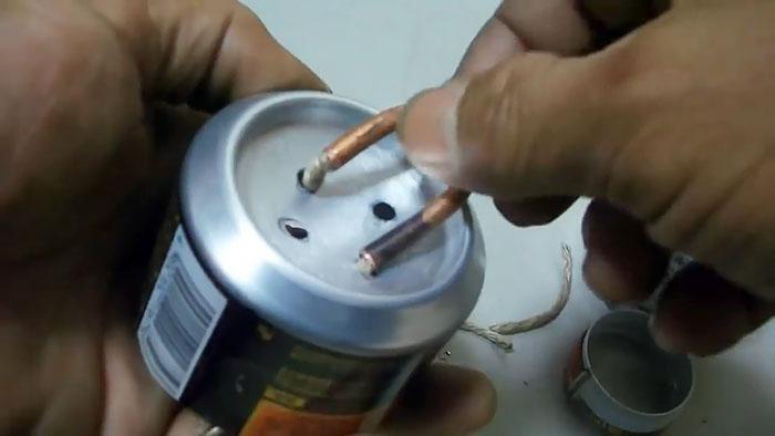 Реактивная спиртовая горелка из алюминиевых банок