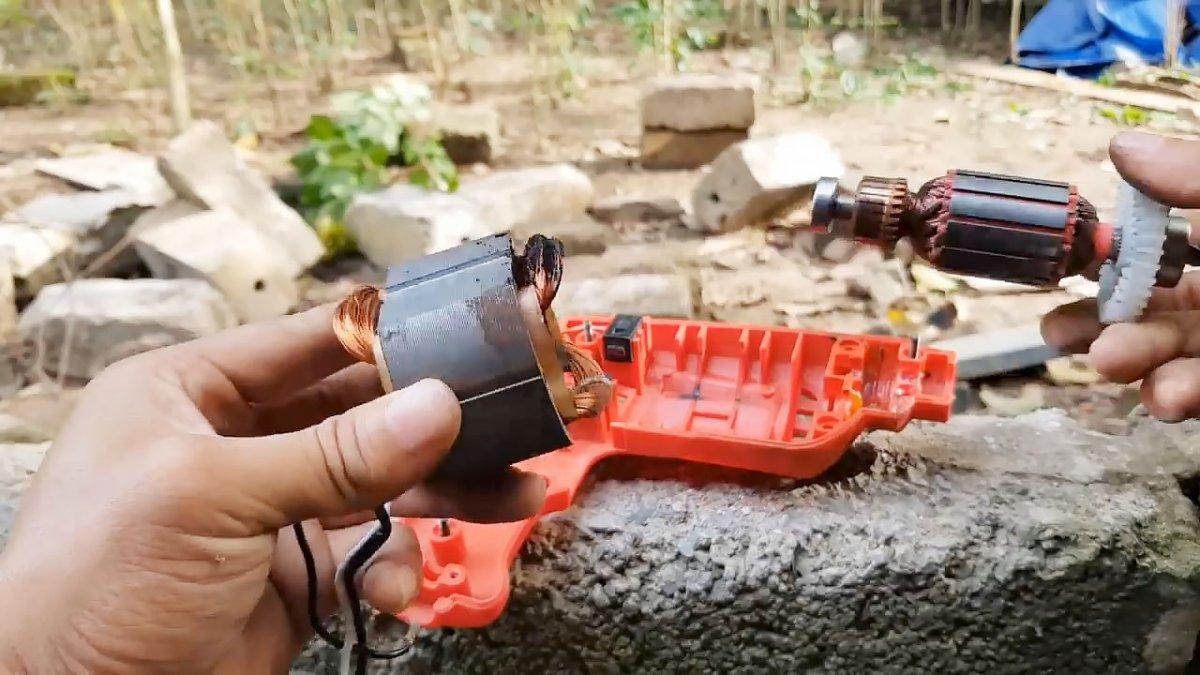 Как восстановить сгоревшую дрель, переделав ее с 220 В на 12 В