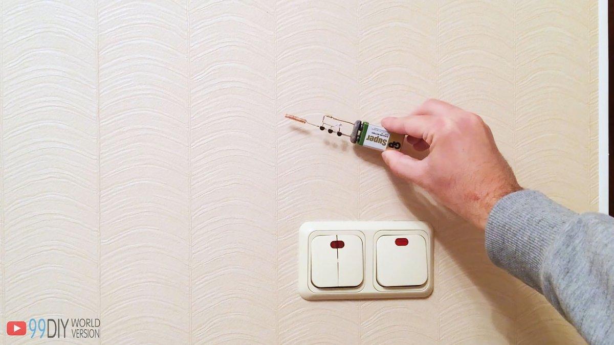 Простой детектор скрытой проводки за 15 минут