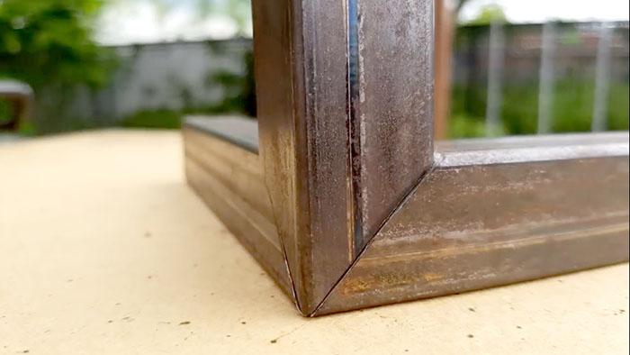 Как выполнить угловое соединение трех квадратных профилей