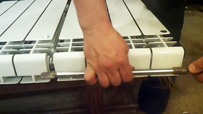 Как добавить секции к алюминиевому радиатору