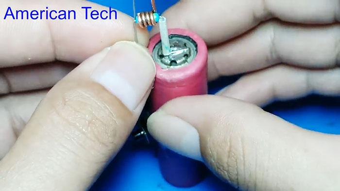 Аккумуляторный паяльник из резистора