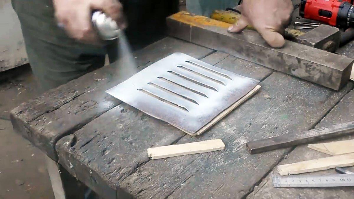 Как сделать решетки для вентиляции из листа металла