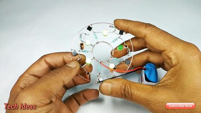Простая светодиодная мигалка на транзисторах