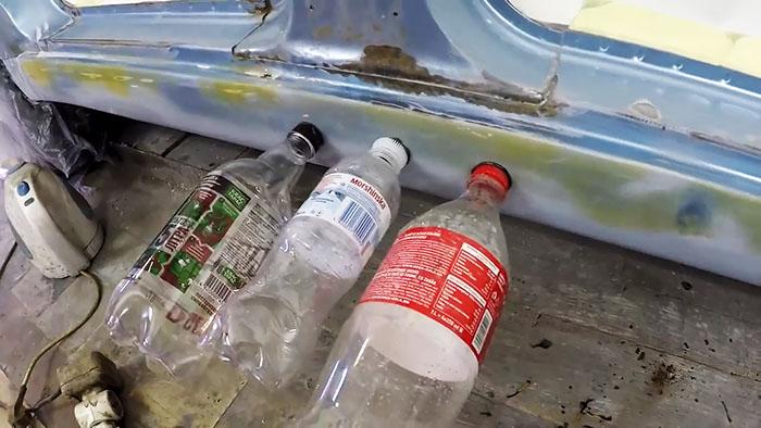 Удаление вмятин при помощи пластиковой бутылки