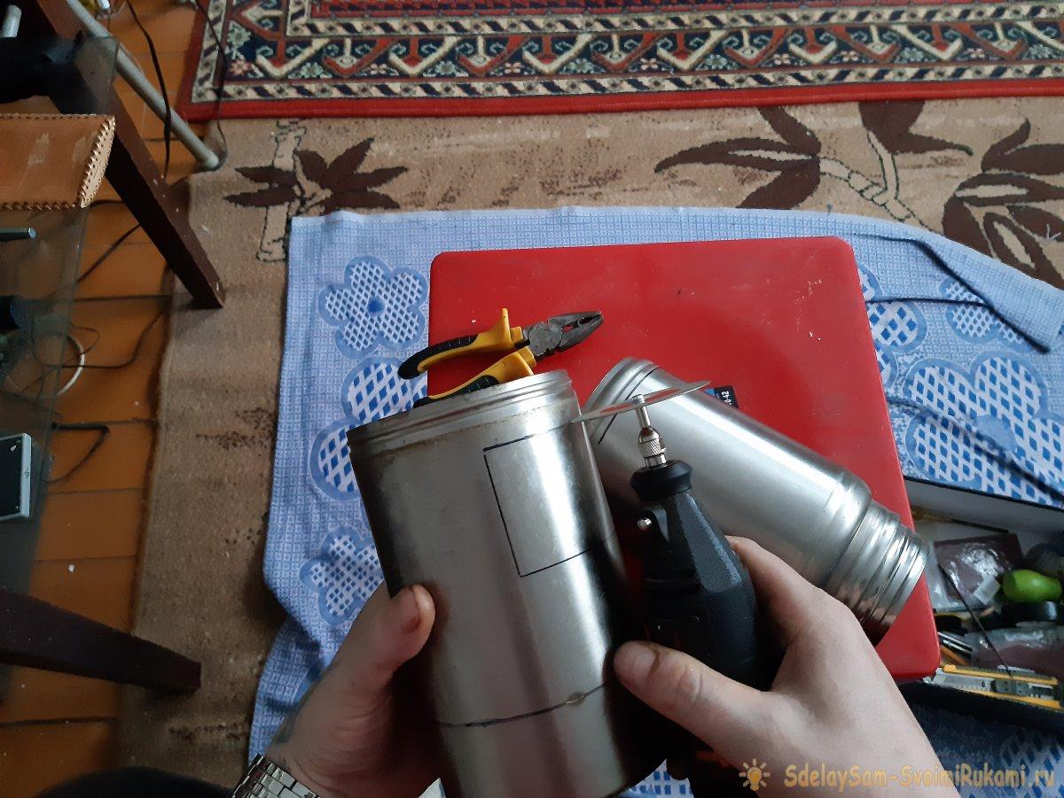 Как сделать походный самовар из старых термосов