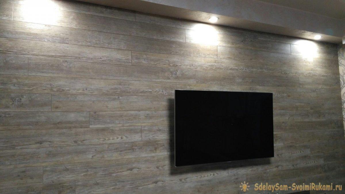 Укладка ламината на стену