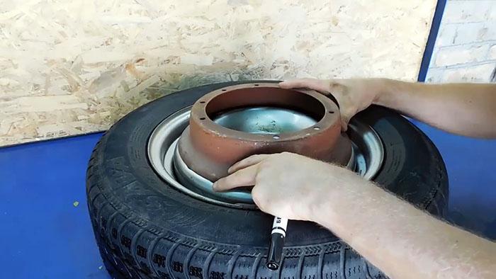 Как сделать самовытаскиватель для автомобиля из обычного диска