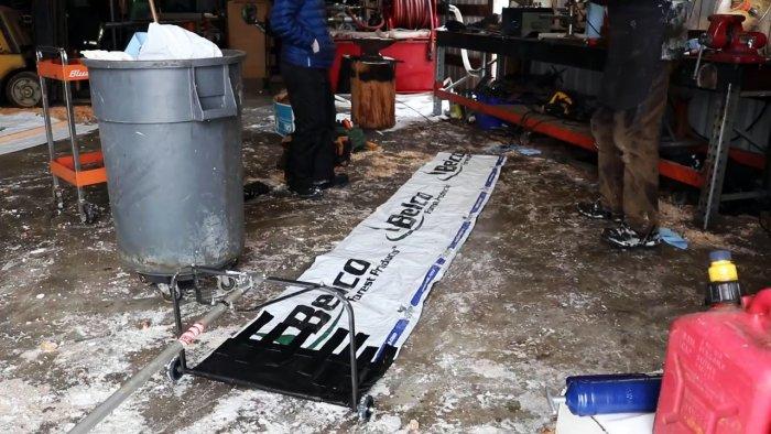Как сделать приспособление для уборки снега с крыши