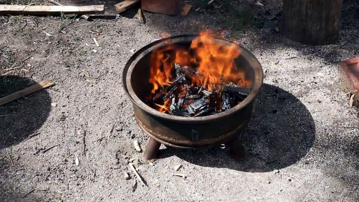 Как из старого колесного диска сделать костровую чашу