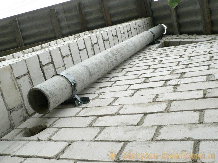 Как сделать дымоход для бани из канализационных труб