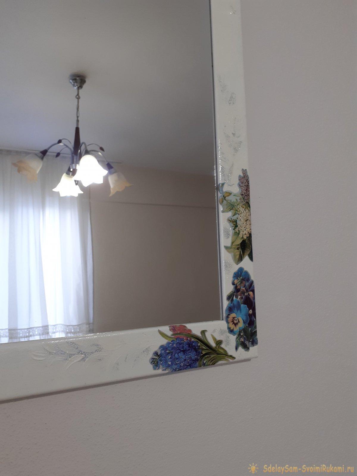 Декор рамы для зеркала