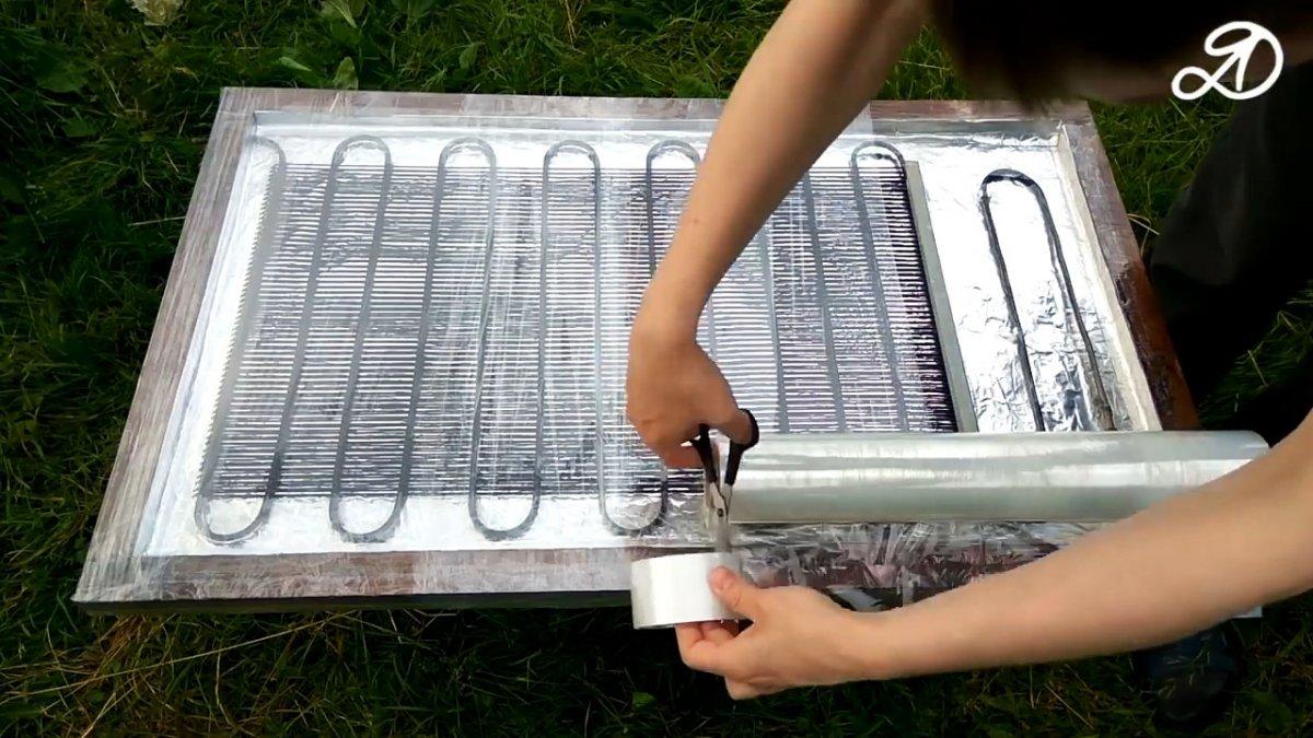 Как сделать солнечный коллектор для обогрева воды на даче