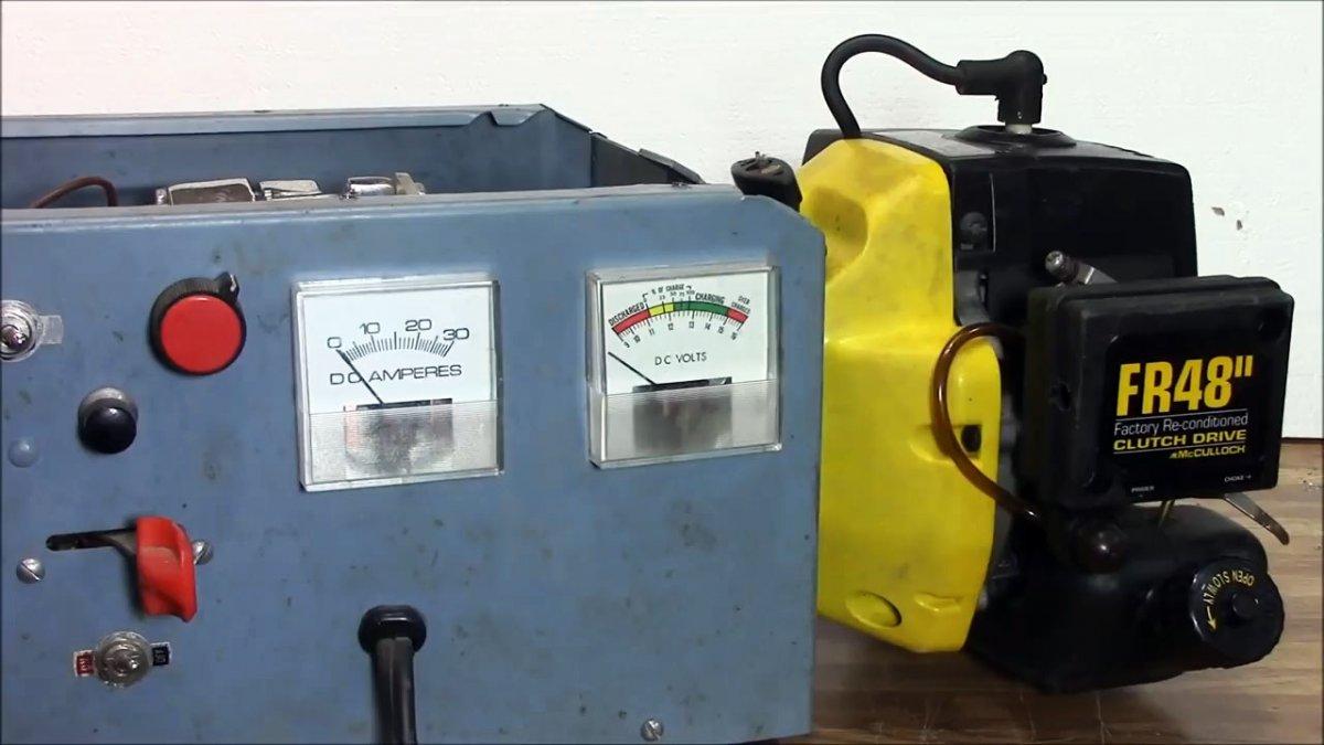 Зарядник-генератор из двигателя триммера