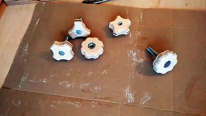 Самодельный кондуктор для изготовления барашковых гаек и болтов в 4-х конфигурациях