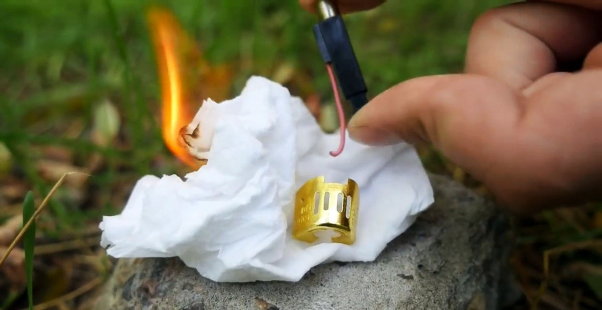 4 необычных способа развести огонь