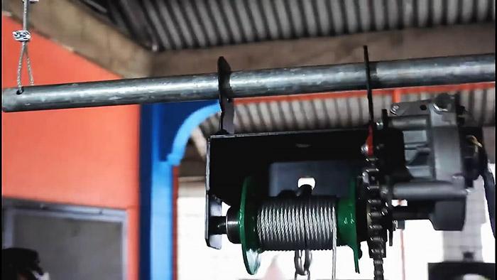 Электролебедка из автомобильного стеклоочистителя и велосипедной втулки