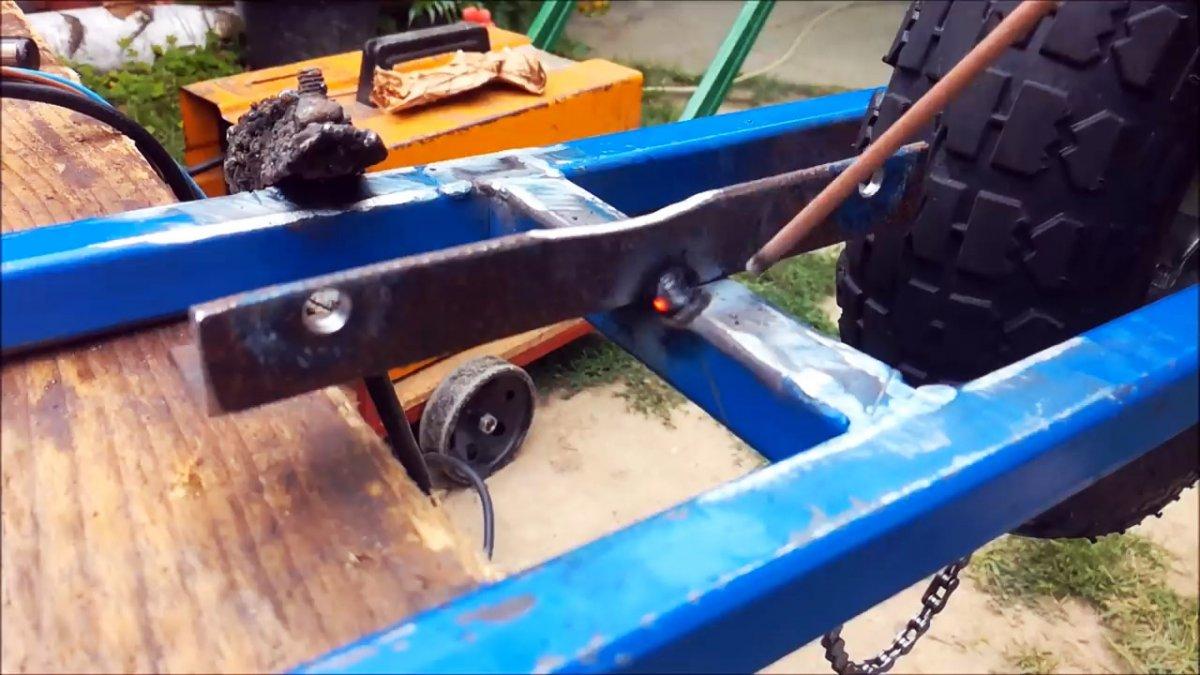 Как сделать электросамокат на приводе от автомобильного генератора