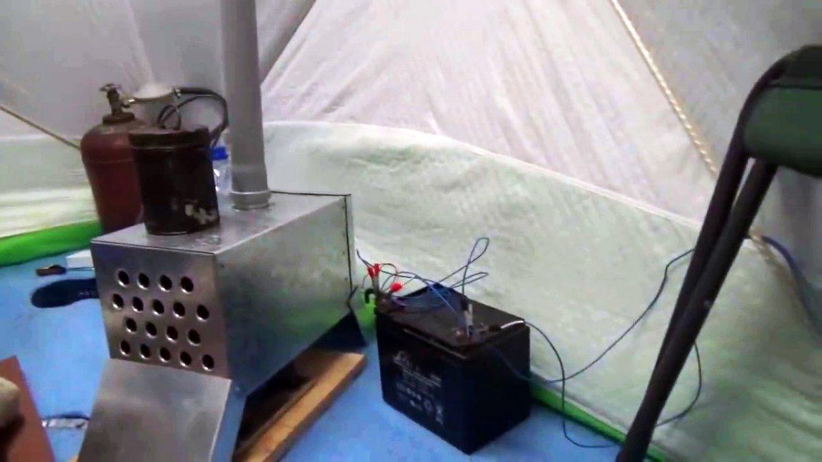 Теплообменник для палатки своими руками
