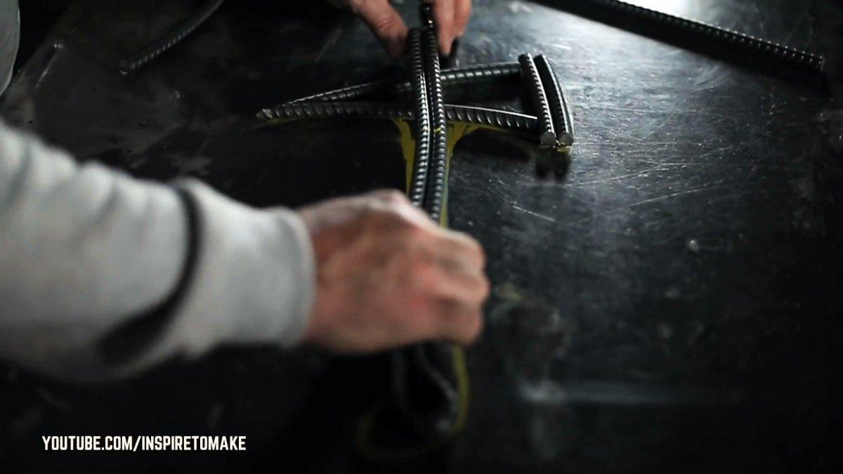 Как сделать топор из арматуры