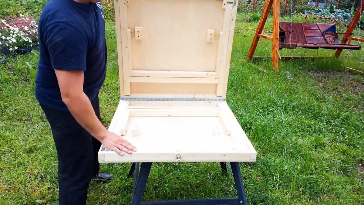 Как сделать устойчивый раскладной туристический столик своими руками