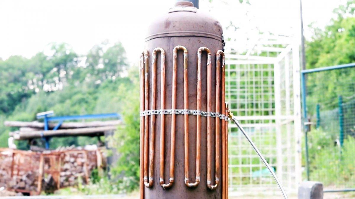 Как сделать проточный водонагреватель из газового баллона
