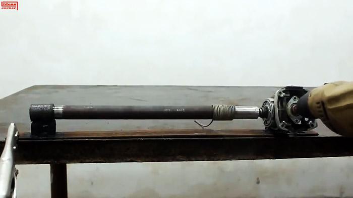 Как из редуктора болгарки сделать устройство для навивки пружин