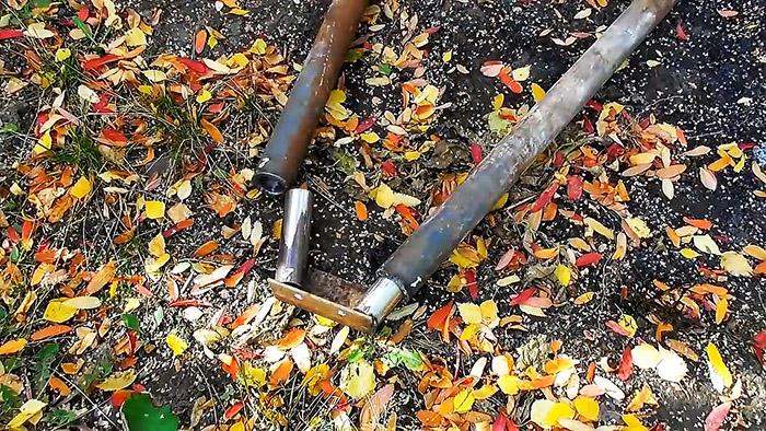 Самодельные разборные качели из старых автозапчастей и труб