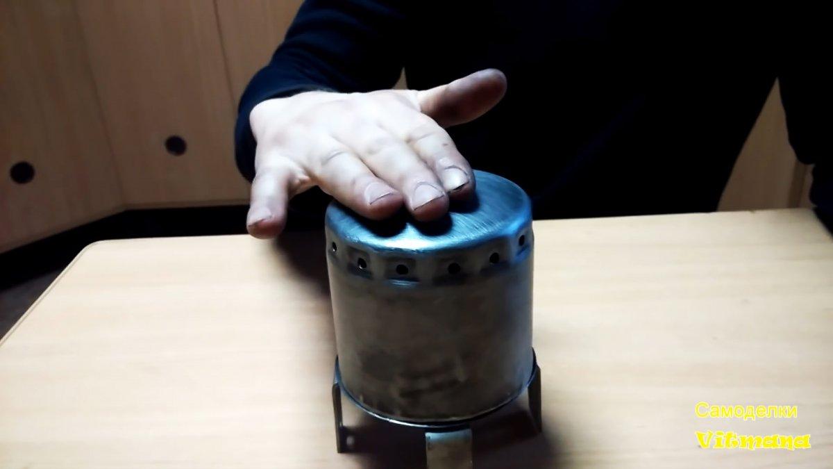 Как из масляного фильтра сделать туристический мини обогреватель