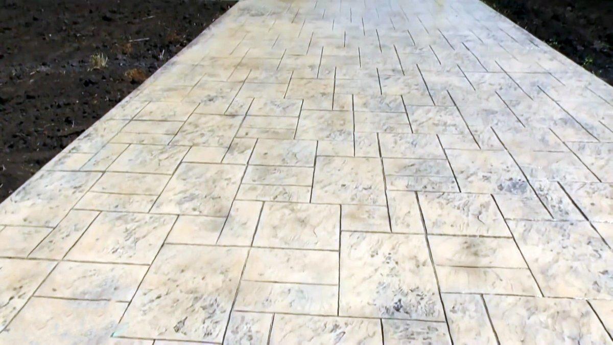 Сделать печатный бетон купить бетон для фундамента в спб с доставкой цена