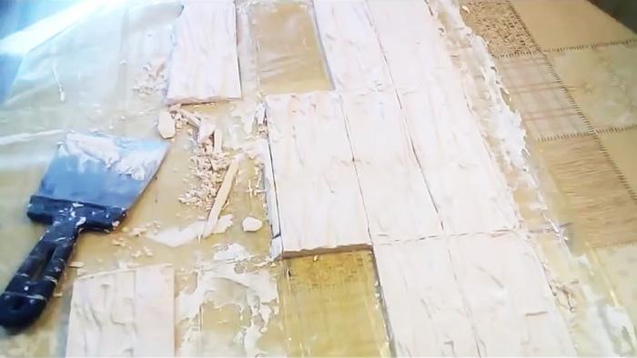 Как без формы сделать декоративный сланец для отделки