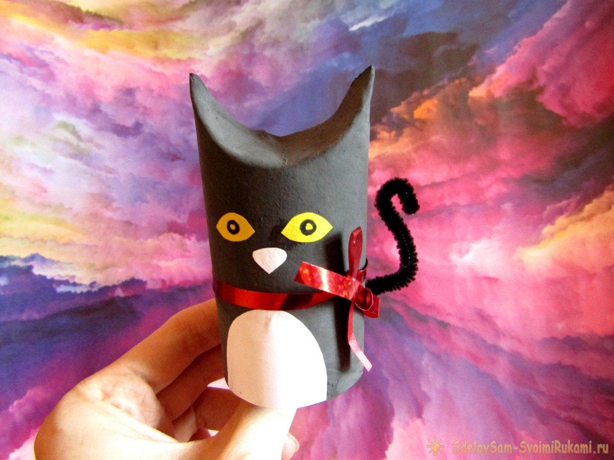 Чем занять ребенка на карантине: сделаем котика из втулки от туалетной бумаги