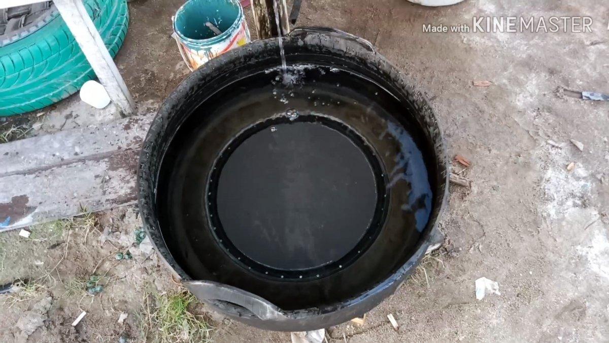 Как из старой покрышки сделать резервуар для воды