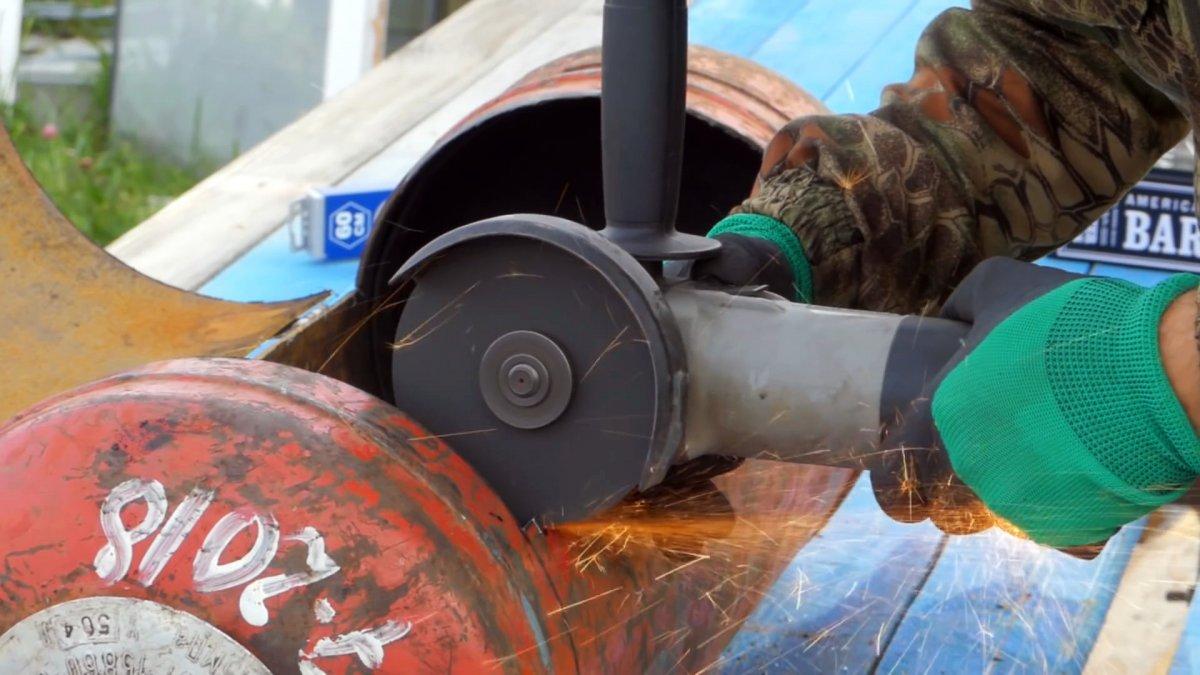 Как сделать мангал из газового баллона всего за 2 часа