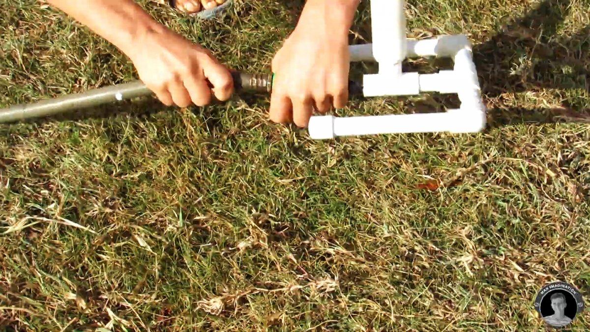 Как из ПВХ труб сделать разбрызгиватель для полива
