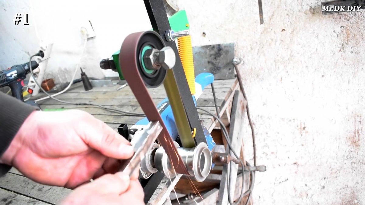 Самый простой гриндер из болгарки, велосипедной втулки и ролика ГРМ