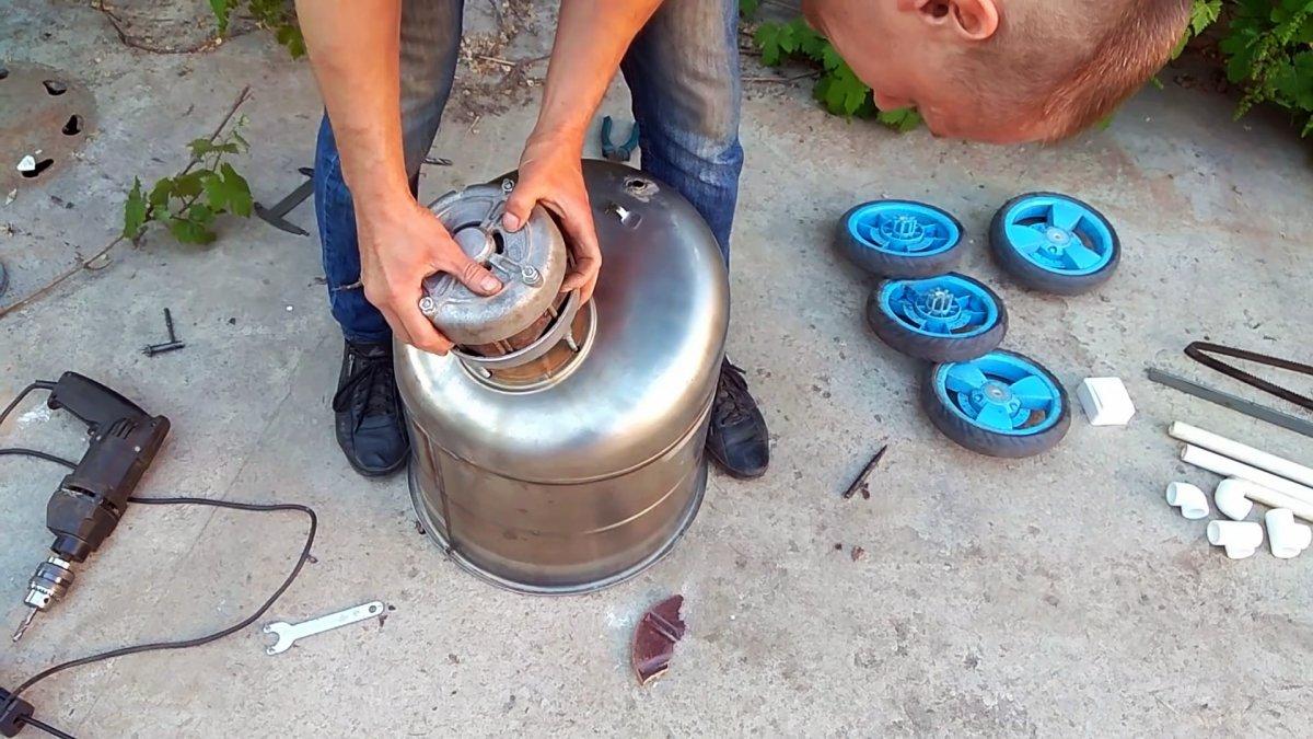 Как сделать газонокосилку из стиральной машинки